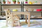 Mizica in stolček Montessori